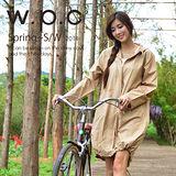 日本狂賣【w.p.c.】束口綁繩款。時尚雨衣/風衣(R1003)-卡其