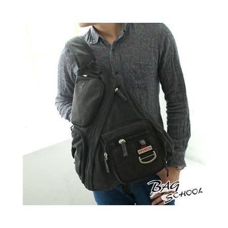 DF【Bag school 】古著日系潮男夏季新款斜肩包(共2色)