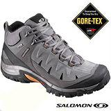 【索羅門 SALOMON】男款 輕量健走系列 EXIT PEAK MID 2 GTX 防水透氣中筒登山鞋.運動鞋/深灰 112097