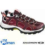 【索羅門 SALOMON】女款 冒險旅遊系列 TECHAMPHIBIAN 3 輕量透氣健走健行鞋