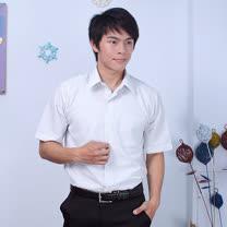 JIA HUEI 短袖柔挺領吸濕排汗防皺襯衫 3158細條紋 灰色 [台灣製造]