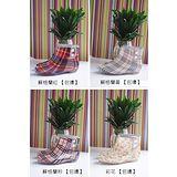 韓版時尚透明女士短筒雨鞋