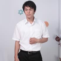 JIA HUEI 短袖柔挺領吸濕排汗防皺襯衫 白色 [台灣製造]