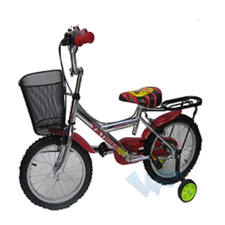 【MIT台灣童車】16吋打氣越野腳踏車 ( 黃 / 紅 )