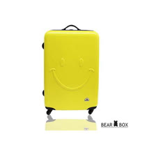 Bear Box 一見你就笑 ★ ABS霧面輕硬殼行李箱-24吋微笑黃