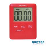 【日本DRETEC】Pocket 口袋型迷你計時器-紅色