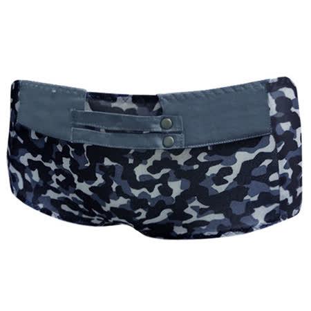 【瑪登瑪朵】FA0165-3 好迷彩  低腰平口萊克褲(探險藍)