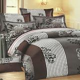 Joy bed【爵士圖騰】雙人鋪棉八件式床罩組(台灣製)
