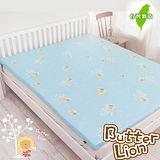 奶油獅-100%純棉5CM床墊專用布套(雙人5尺藍色))