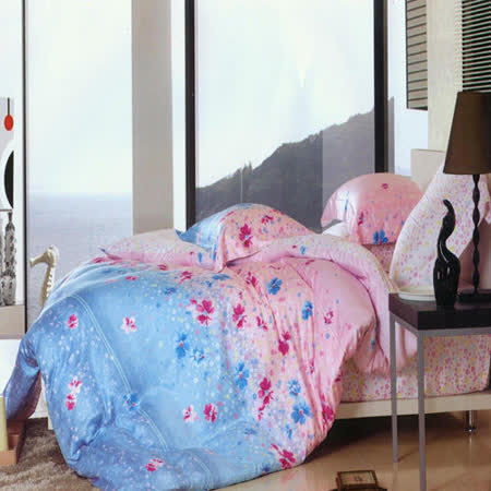 《歌舞動人》雙人加大100%天絲TENCEL四件式兩用被床包組