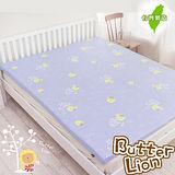 奶油獅-100%純棉5CM床墊專用布套(雙人加大6尺紫色)