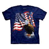 『摩達客』美國進口【The Mountain】自然純棉系列 老鷹美國旗 設計T恤 (預購)