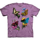 『摩達客』美國進口【The Mountain】自然純棉系列 花漾蝴蝶群 設計T恤 (預購)