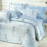 Joy bed【藍色情懷】雙人鋪棉八件式床罩組(台灣製)