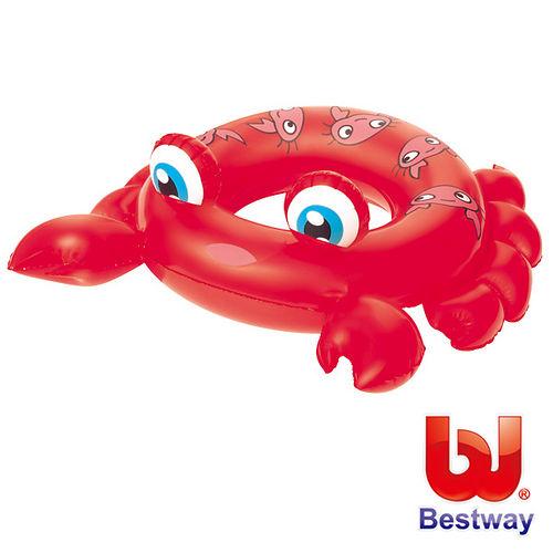 ^( 車^)~購犀利~美國品牌~Bestway~水中生物可愛 充氣泳圈~螃蟹、青蛙、魟魚