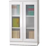 威尼斯2尺兩玻璃門鏡面PU書櫃