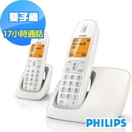 PHILIPS飛利浦DECT超大顯示幕雙子機數位電話(CD2902)