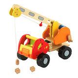 諾貝兒益智玩具【Classic world】客來喜-德國經典木玩 磁力吊車 幼兒益智教具