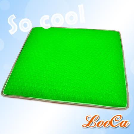 ★夏季涼品★LooCa 3D Air Mesh超涼感凝膠透氣涼墊-沁涼綠