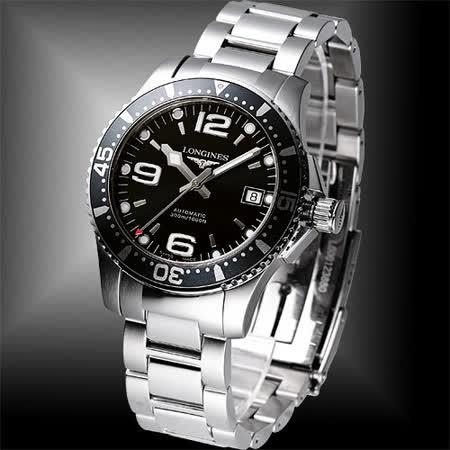 LONGINES 深海征服者300米機械潛水錶(L36424566)-黑/41mm