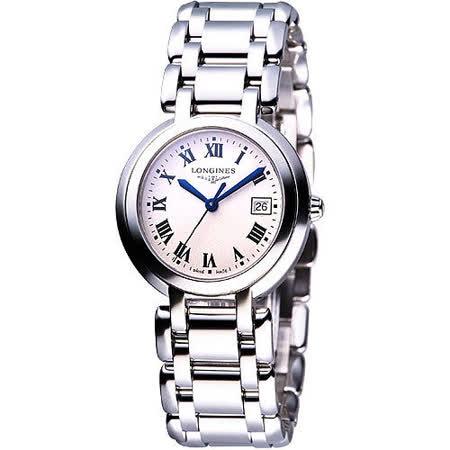 LONGINES PrimaLuna 經典羅馬腕錶(L81104716)-銀