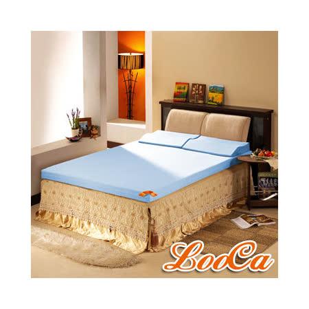 【LooCa】 吸濕排汗護肩6CM記憶床墊-含記憶枕 (加大)