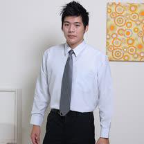 JIA HUEI 長袖柔挺領吸濕排汗防皺襯衫 3158條紋灰 [台灣製造]