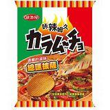 《湖池屋》卡辣姆久厚切洋芋片-總匯披薩78g