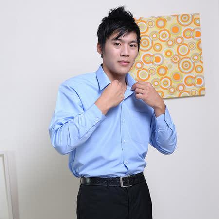 JIA HUEI  長袖柔挺領吸濕排汗防皺襯衫 藍色 [台灣製造]