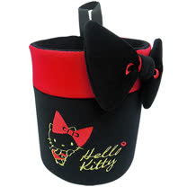 【享夢城堡】HELLO KITTY 紅唇系列-萬物置物桶