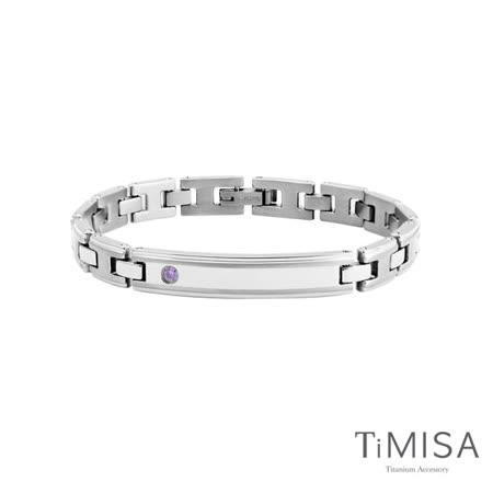【TiMISA】純粹品味晶鑽版(兩色)-細版 純鈦鍺手鍊