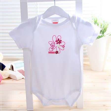 (購物車)自然系純棉短袖包屁衣(A.B.C.D.E)~女童裝~k06080-A~E
