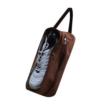 《E.City》【2入】透明視窗防水透氣外出用收納鞋袋/收納包