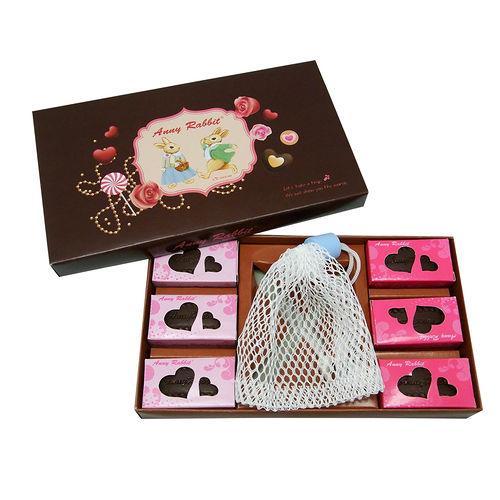 滿299_安妮兔巧克力 皂六入組買就加贈網袋