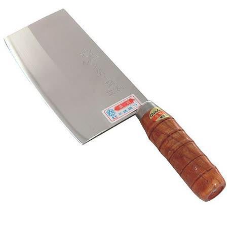 台灣製造圓木柄厚重日本鋼料理切剁刀兩用刀(430011)