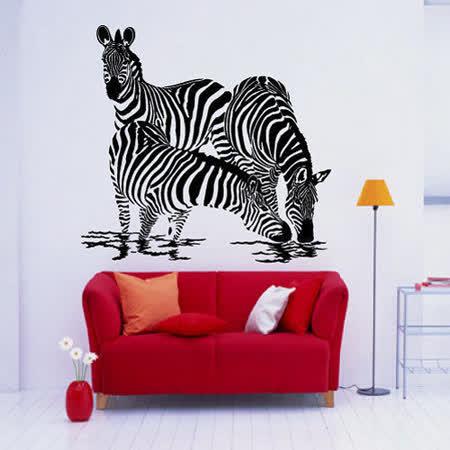 Art STICKER璧貼 。Zebra - A (A003) 設計裝潢璧紙璧貼