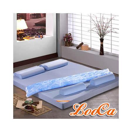 LooCa吸濕排汗6cm護頸記憶床墊全配組 (雙人)