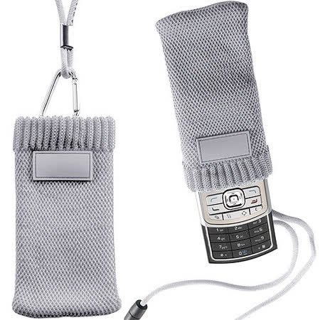 《VOYAGER》掛繩式手機袋(淺灰)