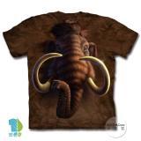 『摩達客』美國進口【The Mountain】自然純棉系列 長毛象頭 設計T恤 (預購)