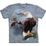 『摩達客』美國進口【The Mountain】自然純棉系列 白頭鷹群 設計T恤 (預購)