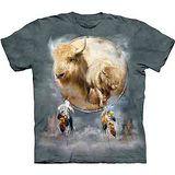 『摩達客』美國進口【The Mountain】自然純棉系列 白水牛盾 設計T恤 (預購)