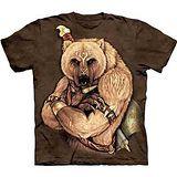 『摩達客』美國進口【The Mountain】自然純棉系列 部落熊勇士 設計T恤 (預購)