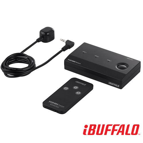 Buffalo 1080p HDMI Swich 遙控切換器 ^(3 port^) ~附遙
