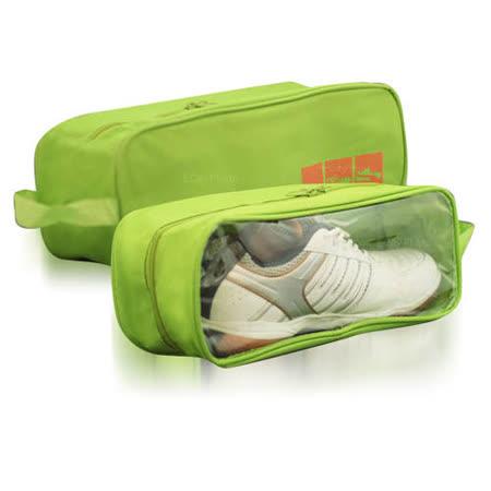 《E.City》【1入】透明視窗防水透氣外出用收納鞋袋/收納包
