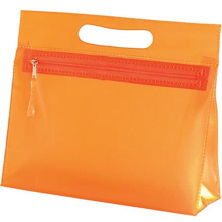 《VOYAGER》可提拿微透單層袋(橘)