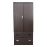 【LOHA】新樂生活改良式3x6衣櫃(胡桃/白橡)