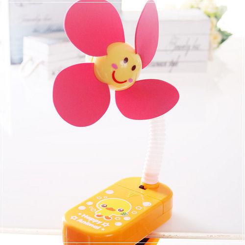 ^( 車^)魔法Baby^~嬰兒推車用安全夾飾風扇^(黃小雞^)^~b20014~D