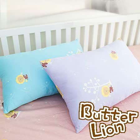 【奶油獅】正版授權~信封式標準枕通用純棉枕頭套(幻紫2入)