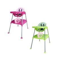 BabyBabe 多功能兒童餐桌椅-(玫瑰紅/田園綠)