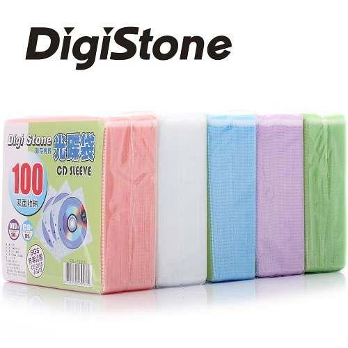 DigiStone 五色雙面CDDVD光碟棉套 5包